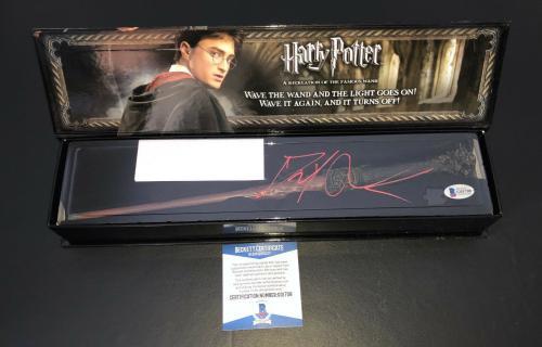 Daniel Radcliffe Signed Autograph Harry Potter Illuminating Wand Bas Beckett 19