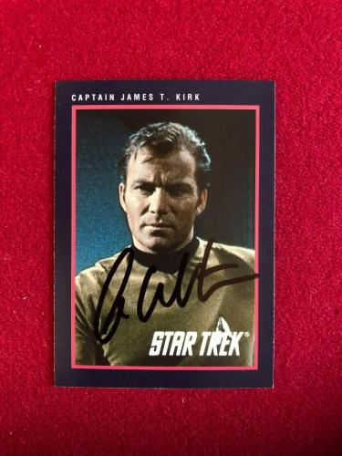 "1991, William Shatner (Capt. Kirk), ""Autographed"" (Beckett) Star Trek Card"