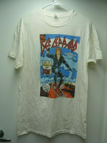 Def Leppard Vintage WOMAN Of Doom 1987 Band Concert Tour XL T Shirt SS2 READ