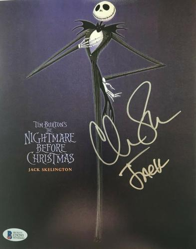 Chris Sarandon Signed Jack Nightmare Before Christmas 8x10 Photo BAS COA A