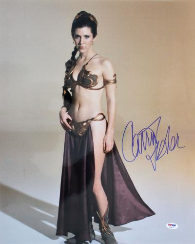 Carrie Fisher Star Wars Return of the Jedi Signed 16x20 Photo PSA/DNA #Z29177