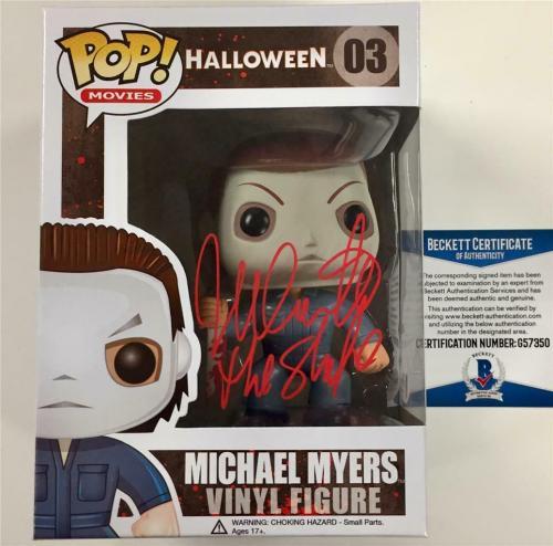 Halloween Pop.Nick Castle The Shape Signed Michael Myers