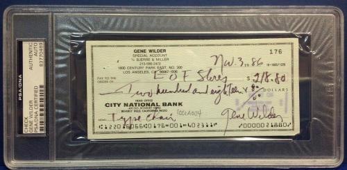Professional Sale Gildna Radner & Gene Wilder Signed Program Coa Jsa Cards & Papers Autographs-original