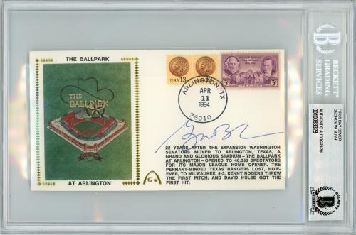 George W. Bush Autographed First Day Cover President Beckett BAS #10983328