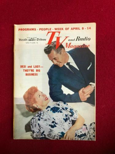 "1956, Lucille Ball, ""TV & Radio Magazine"" (No Label) Rare / Vintage"