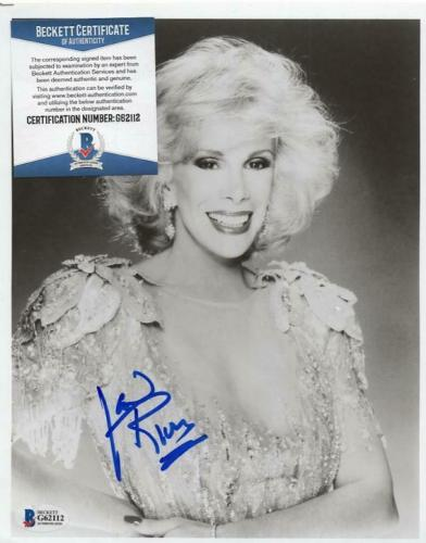 Movies Joan Rivers Signed 8x10 Photo Autographs-original Can We Talk?