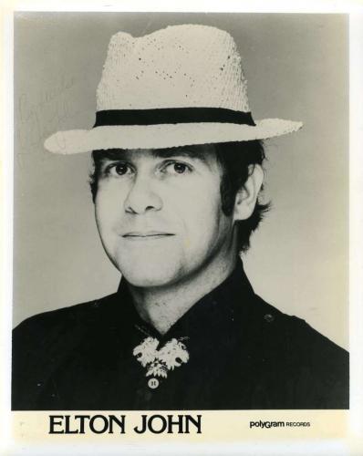 Elton John Psa Dna Hand Signed Vintage 80`s 8x10 Photo Original Autograph