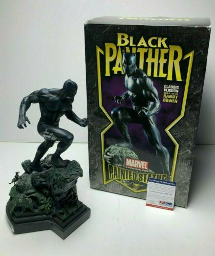 Stan Lee Signed Randy Bowen Marvel Black Panther Statue PSA X33148