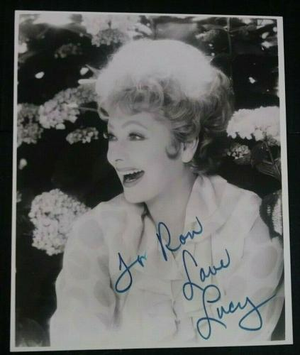 Lucille Ball I Love Lucy Signed Autographed 8x10 Photo W/coa Authentic Rare