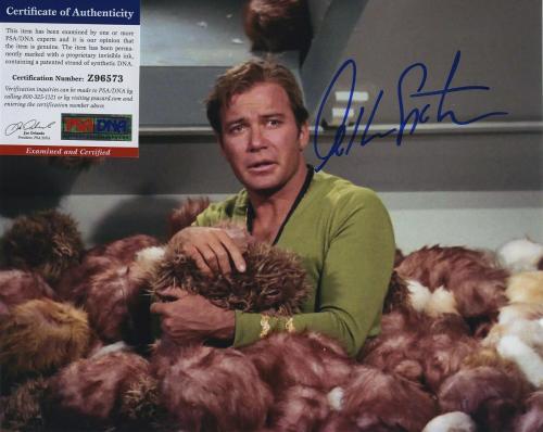 William Shatner Star Trek Signed Autographed Color 8x10 Photo Psa Dna Z96573
