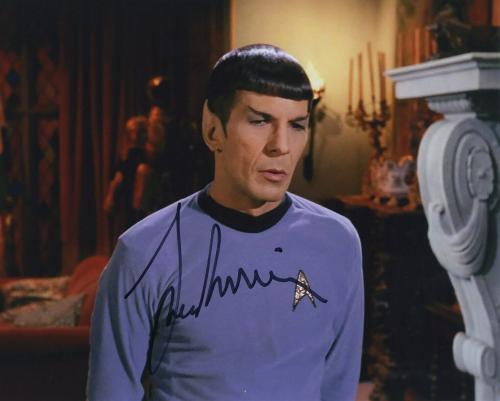 Leonard Nimoy Star Trek Signed Autographed Color Photo