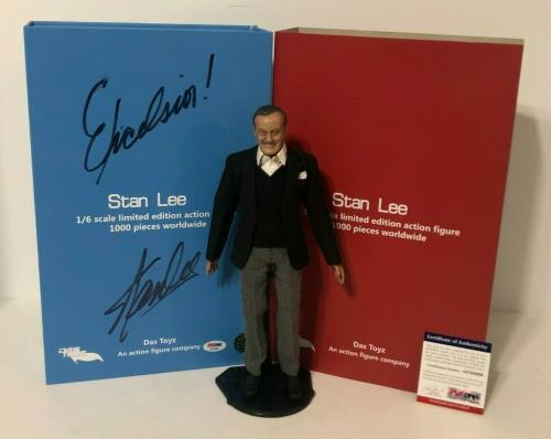 """Stan Lee Signed Das Toyz 1/6 Scale Limited Edition Action Figure """"Excelsior"""" PSA"""