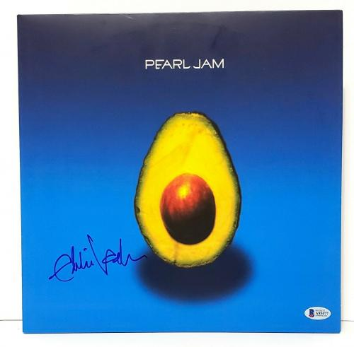 "EDDIE VEDDER Signed Autographed PEARL JAM ""Avocado"" Album LP Beckett BAS #A85477"