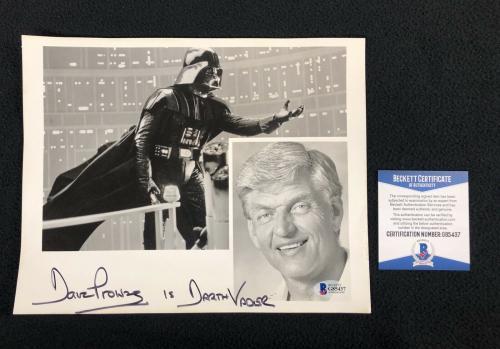 David Prowse Signed Star Wars Darth Vader 1980's Promo 8x10 Photo Beckett COA
