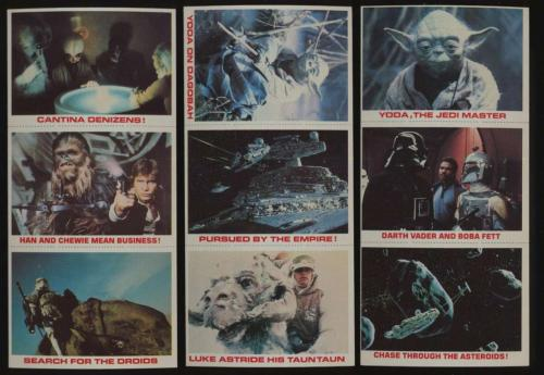 1980 Burger King Star Wars  EXMT avg lot of 42 3 card panels 8 different 46332 Graded