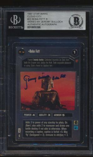 #22 Boba Fett R Jeremy Bulloch - 1997 Star Wars Cloud City Non-Sports Cards (Star) Graded AUTO
