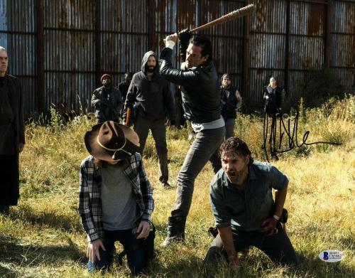 "JEFFREY DEAN MORGAN Signed Walking Dead ""NEGAN"" 11x14 Photo BECKETT BAS #C65462"