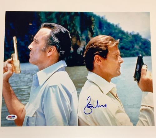 ROGER MOORE Man with the Golden Gun 007 James Bond signed 11x14 Photo ~ PSA COA