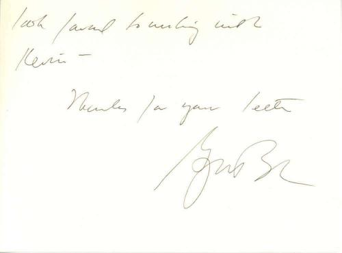 President George W Bush Signed Autographed 4x6 Hand Written Letter JSA