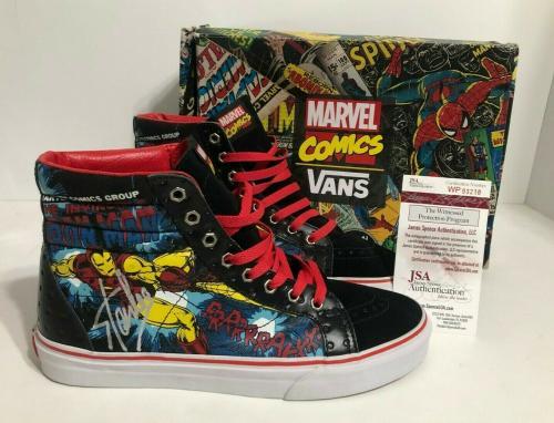 Stan Lee Signed Vans Sk8-hi Iron Man *Marvel Comics Shoes/Sneakers JSA WP93218