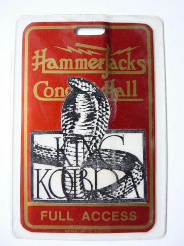 King Kobra Hammerjacks Tour Concert Issued Used Backstage Pass Laminate #1