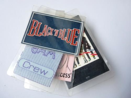 KISS BLACK N BLUE 1985 Lot Of 4 Concert Tour Issued Backstage Pass Laminates