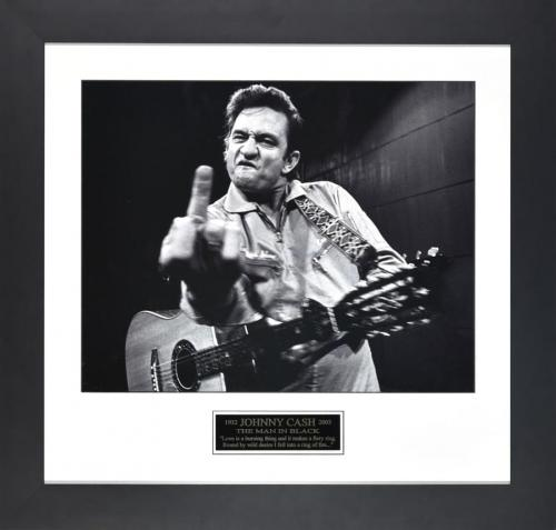 Johnny Cash signed photo print