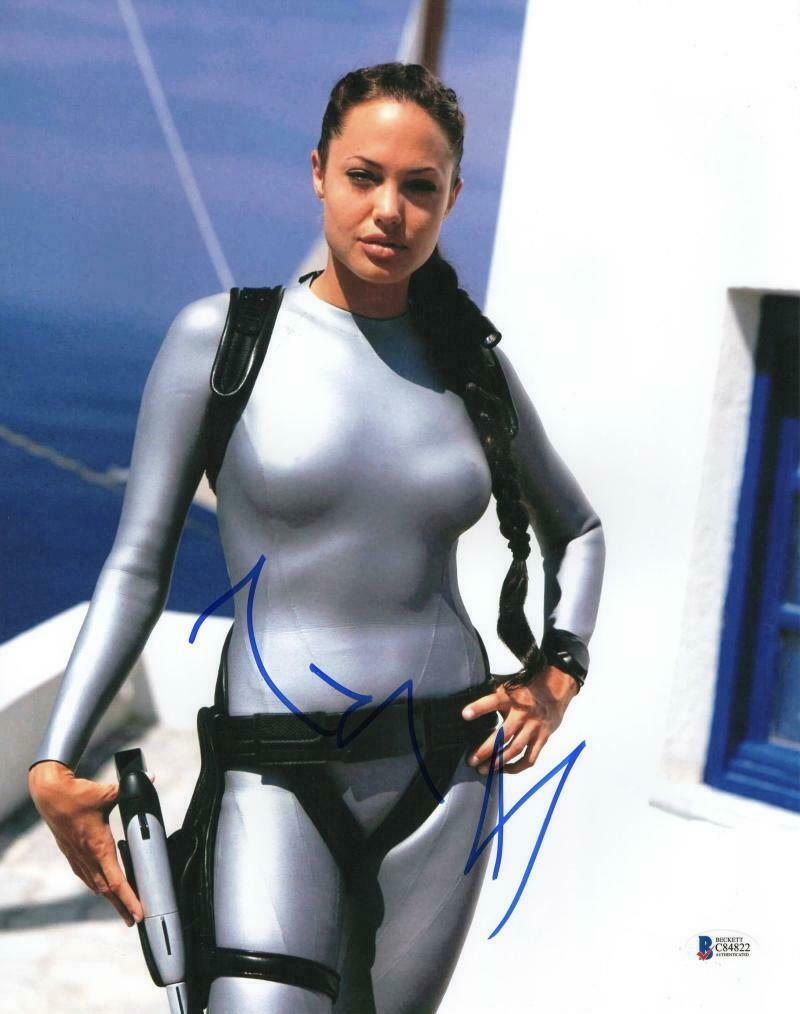 Angelina Jolie Sexy Pics hot sexy angelina jolie signed 11x14 authentic autograph