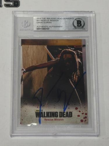Danai Gurira Auto'd 2014 The Walking Dead Card #41 Bas Beckett Coa Michonne