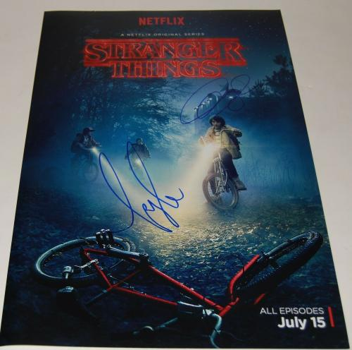 MICHAEL STEIN & KYLE DIXON signed (STRANGER THINGS) 12X18 photo COMPOSERS W/COA