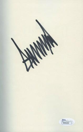 Donald Trump Signed Book Jsa Coa Crippled America Not A Bookplate In Person!!