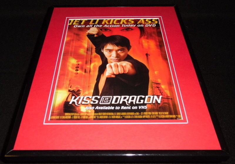 Kiss Of The Dragon 2002 Framed 11x14 Original Vintage Advertisement Jet Li