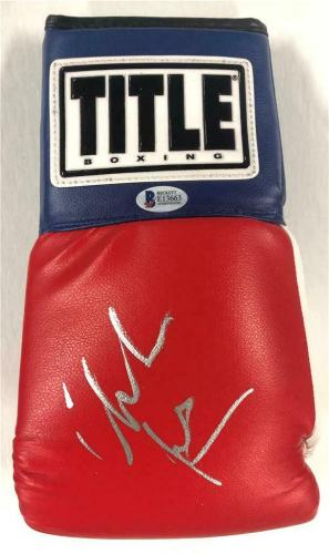CHRISTIAN BALE autograph THE FIGHTER signed red Boxing Glove ~ Beckett BAS COA
