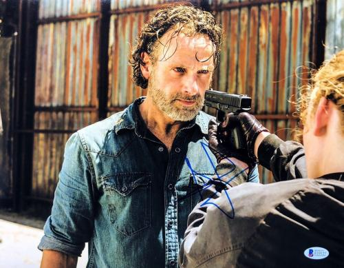 Andrew Lincoln Signed 'The Walking Dead' 11x14 Photo BAS Beckett E19127