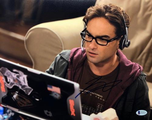 Johnny Galecki Signed The Big Bang Theory 11x14 Photo BAS Beckett E05821