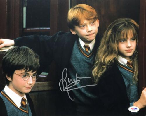 Rupert Grint Signed 'Harry Potter' 11x14 Photo *Ron Weasley PSA AE94288