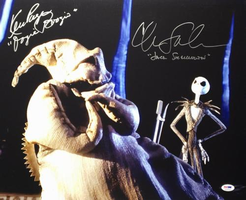 Chris Sarandon Ken Page Signed Nightmare Before Christmas 16x20 Photo PSA 58949