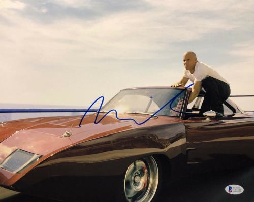 Vin Diesel Signed Fast & Furious 11x14 Photo BAS Beckett C17318