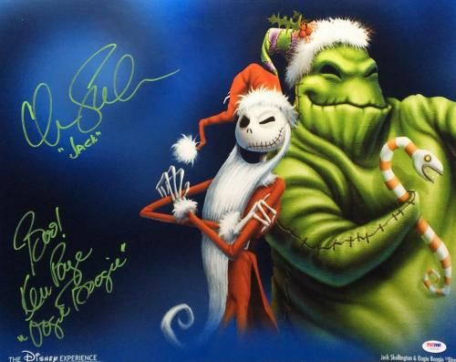 Chris Sarandon Ken Page Signed Nightmare Before Christmas 16x20 Photo PSA Y10132