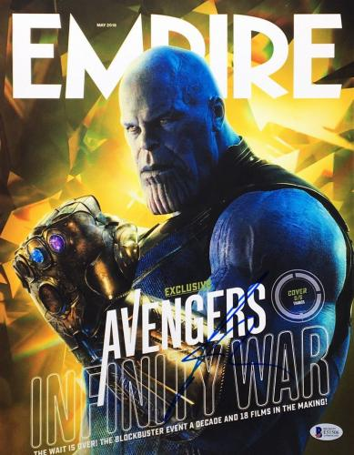 Josh Brolin Signed 'Empire' 11x14 Photo Cover *Thanos *Infinity Gauntlet BAS 506