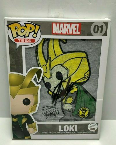 Stan Lee Signed Marvel Funko Pop! Tees 'Loki' Limited Edition T-Shirt COA