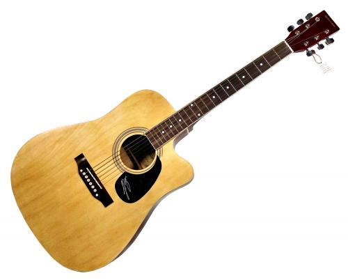 Luke Bryan Autographed Signed Acoustic Guitar AFTAL UACC RD COA