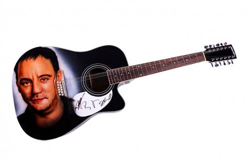 Dave Matthews Band Autographed Airbrushed Guitar & Proof AFTAL