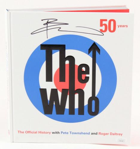 Pete Townshend Signed The Who Official History 50 Years Book With Roger Daltrey