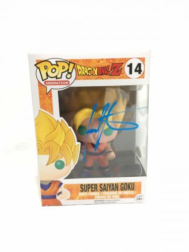 Ian James Corlett Signed Super Saiyan Goku Dragonball Z Pop Funko JSA Coa