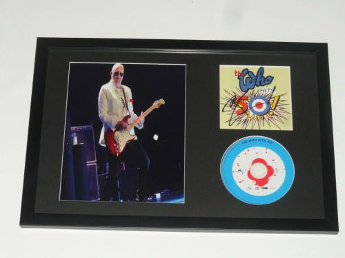 """Pete Townshend Signed Framed 12x18 """"the Who Hits 50 Cd"""" Display The Who Jsa Coa"""