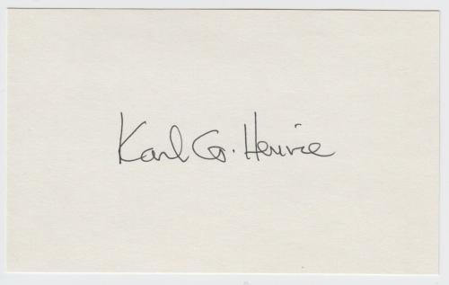Dr Karl G Henize Astronaut Signed Index Card D 1993 Jsa Stamp Of Approval