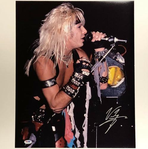Motley Crue VINCE NEIL Autograph Signed 16x20 Photo ~ PSA Witnessed COA