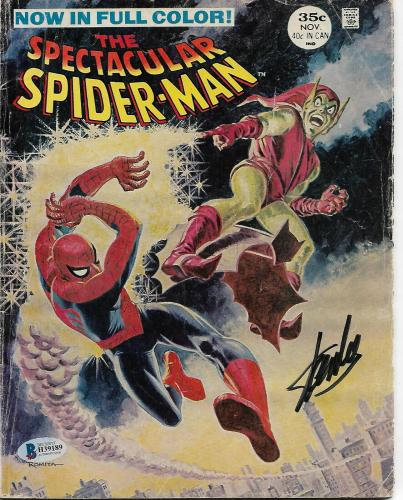 Spectacular Spider-Man #2 Comic Book Signed by STAN LEE Green Goblin BECKETT CO