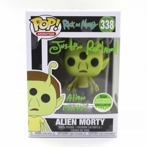 Justin Roiland Autograph Funko Pop Rick and Morty ECCC Alien Signed JSA COA Z3